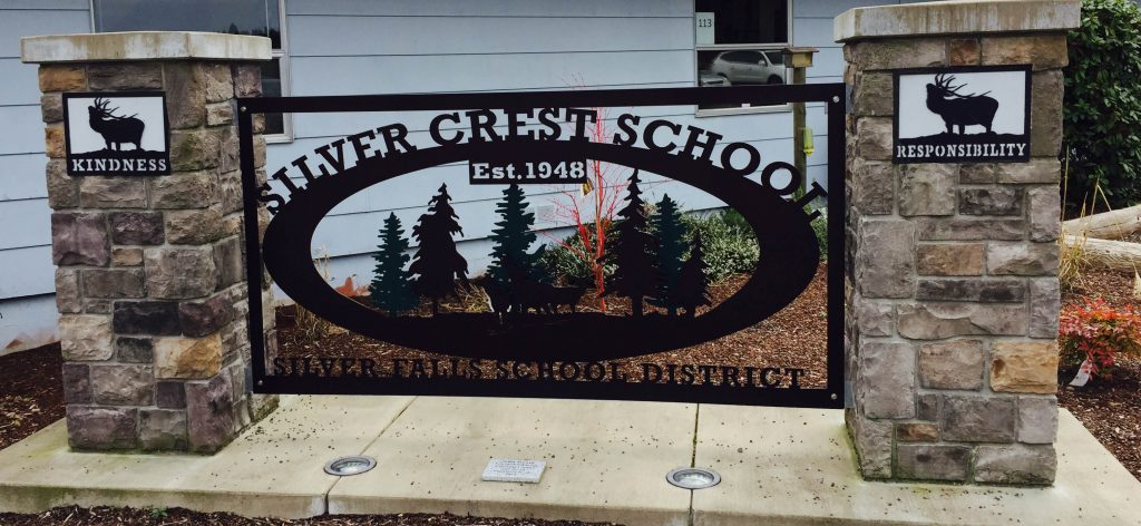 Silver Crest School Sign
